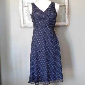 J Crew 100% Silk Polka Dot Dress/ Size 0